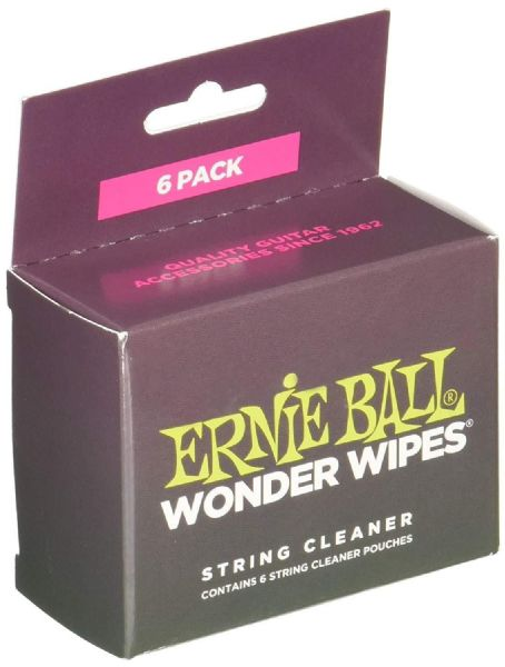 Ernie Ball Wonder Wipe Guitar String Cleaner (Pack of 6) - 4277